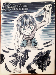 Inktober Day 25 - A Murder of Crows by Dra-Aluxe