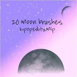 20 Moon Ps Brushes by kpopeditzmlp