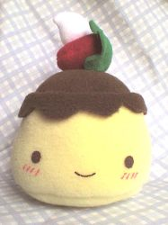 Flanny the cute flan plushie by VioletLunchell