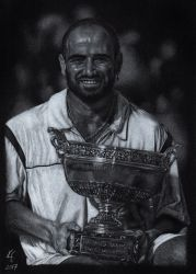 Andre Agassi by MissKuney