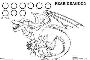 Fear Dragoon - Sell 1 - Line Art Base (READ)LOCKED by WonderlandTrades