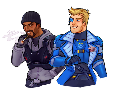 Reyes and Morrison by lutniik