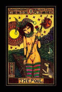 Aesthetic Beautiful Girls Tarot 0 The Fool by sawsin