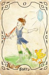 Final Fantasy Tarot - The Fool (Bartz) by auronlu