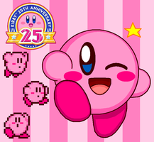 Kirby 25th Anniversary by cuddlesnam