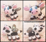 Commission: Small Bee Cow Plush Doll by Sarasaland-Dragon