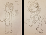 Drawing in 2007 vs Drawing in 2017 by tavaris234