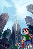 Earthbound Fourside by silverflamng