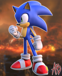 [BLENDER] MODERN SONIC #4 by AnthonyBlender