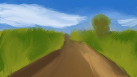 Field painting (Art Class Project) by Pyrrouge