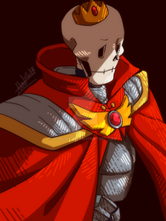 [Undertale Neutral] King Papyrus by aude-javel