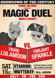 Trixie vs Twilight Magic Duel by Skeptic-Mousey