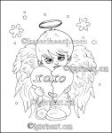 Christmas Angel Boy Coloring Page by Katerina-Art