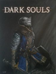 Dark Souls commission  by timscottart