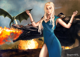 DAENERYS TARGARYEN  GOT by killbiro