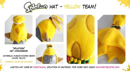 Splatoon Boy Hat - Yellow Team! by Bathsua