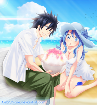 Gruvia's Summer by AkilaChione