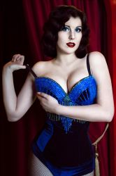 Blue Bird Burlesque Costume by ZyunkaMukhina
