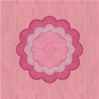 Peach Flooring And Floral Rug (pink) by Rosemoji