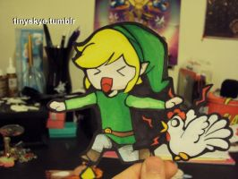 Link and the Cuckoo by TinySkye