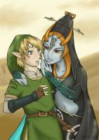 Link and Midna by Adre-es