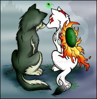 Wolf Game Love by arosyks