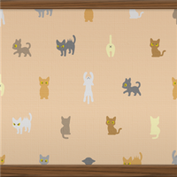 Cats (beige) by Rosemoji