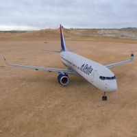 Boeing 737-800 in a Desert by VanishingPointInc