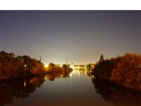 Night time Cambridge Ontario by gimpymuse