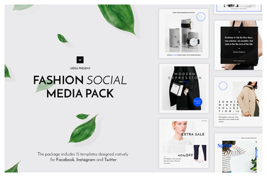 Fashion Social Media Pack by theanthnonyrich