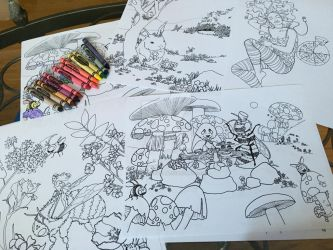 Colouring book pages - WIP by Child-Of-Gaea