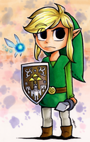 Toon Link and Navi by FishStickMystic