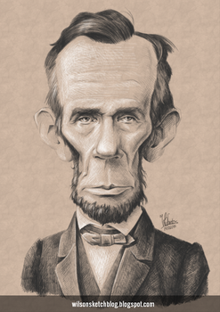 Abraham Lincoln (Caricature) by wilson-santos