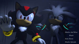 Shadow And Silver Watch Sonic Boom Again Poster. by shadow759
