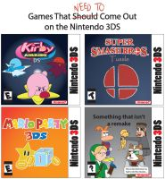 Nintendo 3DS Games Ideas by T-3000