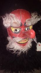 Comissioned tengu demon latex mask by MaryDKidd