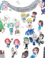 Christmas Collage of OCs 2015 by FreeingMyAngelWings