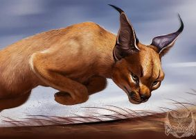 Catamancer Caracal by TamberElla