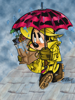 Minnie under the rain by VPdessin