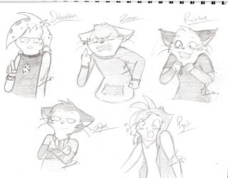 Sketches for JB and Adam by lilo1212