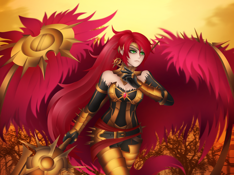 Pyrrha As The Lancer of Red by LobbyRinth