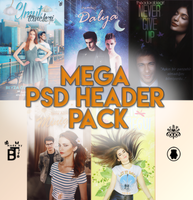 Mega PSD Header Pack by BeyzaT by BeyzaT
