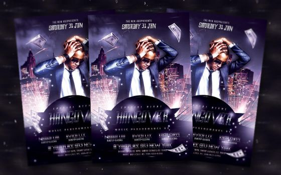 Special Night Hangover - Flyer Template by bl4ckocreation