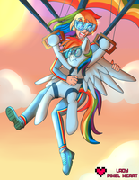 Human RD and Pone RD Skydiving Commission by ladypixelheart