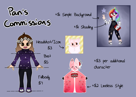 Commissions // Points+PayPal [Open] by Panolli