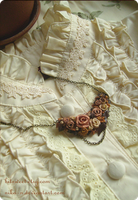 Antique Rose Garland necklace by Nika-N