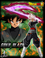 Poster Black Goku Dragon Ball Super by jaredsongohan