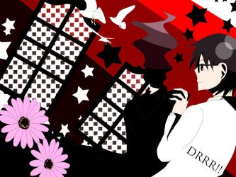 Black and Red Shinra x Celty by shincel