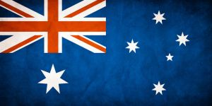 Australia Grungy Flag by think0