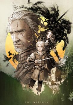 Novel cover The witcher vol.3 by Xiling